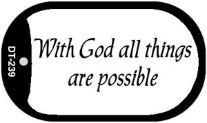 All Things Are Possible Wholesale Novelty Metal Dog Tag Necklace DT-239