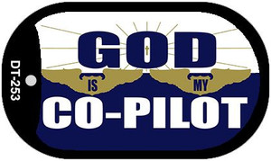 God Is My Co Pilot Wholesale Novelty Metal Dog Tag Necklace DT-253
