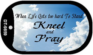 Kneel and Pray Clouds Wholesale Novelty Metal Dog Tag Necklace DT-9859