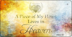 Lives In Heaven Wholesale Novelty Metal Bicycle Plate BP-11883