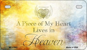 Lives In Heaven Wholesale Novelty Metal Motorcycle Plate MP-11883