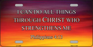 Philippians 4 13 Wholesale Novelty Metal License Plate LP-11885