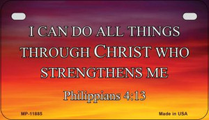 Philippians 4 13 Wholesale Novelty Metal Motorcycle Plate MP-11885