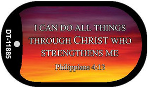 Philippians 4 13 Wholesale Novelty Metal Dog Tag Necklace DT-11885