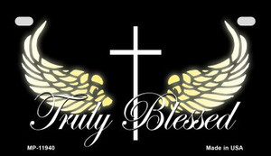 Truly Blessed Wholesale Novelty Metal Motorcycle Plate MP-11940