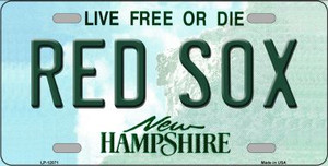 Red Sox New Hampshire State Wholesale Novelty Metal License Plate LP-12071