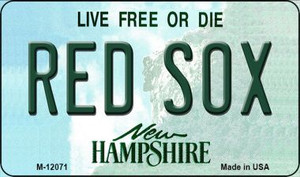 Red Sox New Hampshire State Wholesale Novelty Metal Magnet M-12071