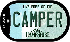 Camper New Hampshire State Wholesale Novelty Metal Dog Tag Necklace DT-12073