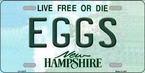 Eggs New Hampshire State Wholesale Novelty Metal License Plate LP-12075