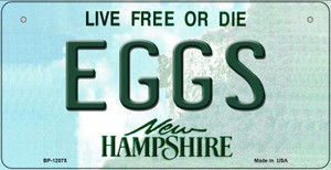 Eggs New Hampshire State Wholesale Novelty Metal Bicycle Plate BP-12075