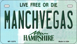 Manchvegas New Hampshire State Wholesale Novelty Metal Motorcycle Plate MP-12076