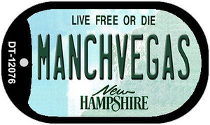 Manchvegas New Hampshire State Wholesale Novelty Metal Dog Tag Necklace DT-12076