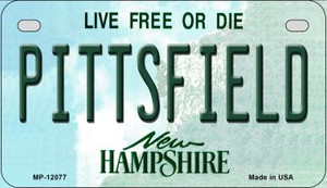 Pittsfield New Hampshire State Wholesale Novelty Metal Motorcycle Plate MP-12077