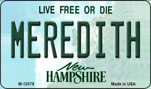 Meredith New Hampshire State Wholesale Novelty Metal Magnet M-12078