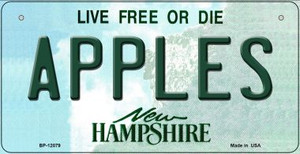 Apples New Hampshire State Wholesale Novelty Metal Bicycle Plate BP-12079