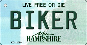 Biker New Hampshire State Wholesale Novelty Metal Key Chain KC-12080