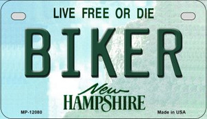 Biker New Hampshire State Wholesale Novelty Metal Motorcycle Plate MP-12080
