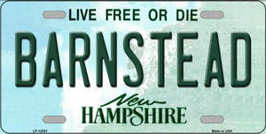 Barnstead New Hampshire State Wholesale Novelty Metal License Plate LP-12081
