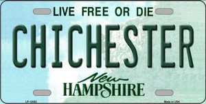Chichester New Hampshire State Wholesale Novelty Metal License Plate LP-12082