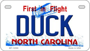 Duck North Carolina State Wholesale Novelty Metal Motorcycle Plate MP-12086