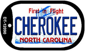 Cherokee North Carolina State Wholesale Novelty Metal Dog Tag Necklace DT-12090