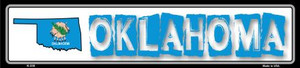 Oklahoma State Outline Wholesale Novelty Metal Vanity Small Street Signs K-335