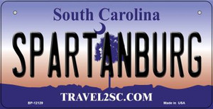 Spartanburg South Carolina State Wholesale Novelty Metal Bicycle Plate BP-12129