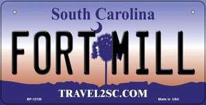 Fort Mill South Carolina State Wholesale Novelty Metal Bicycle Plate BP-12130