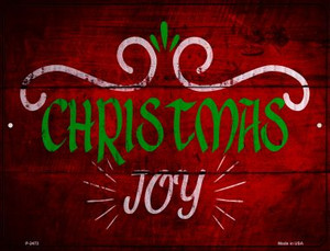 Christmas Joy Wholesale Novelty Metal Parking Sign P-2473