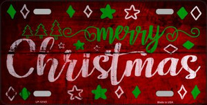 Merry Christmas Wholesale Novelty Metal License Plate LP-12141