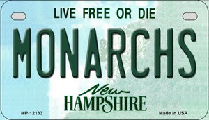 Monarchs New Hampshire Wholesale Novelty Metal Motorcycle Plate MP-12133