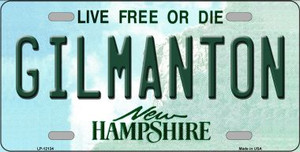 Gilmanton New Hampshire Wholesale Novelty Metal License Plate LP-12134