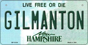 Gilmanton New Hampshire Wholesale Novelty Metal Bicycle Plate BP-12134