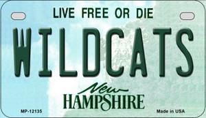 Wildcats New Hampshire Wholesale Novelty Metal Motorcycle Plate MP-12135