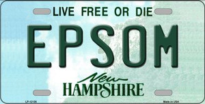Epsom New Hampshire Wholesale Novelty Metal License Plate LP-12136