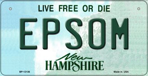 Epsom New Hampshire Wholesale Novelty Metal Bicycle Plate BP-12136