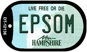 Epsom New Hampshire Wholesale Novelty Metal Dog Tag Necklace DT-12136