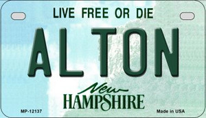 Alton New Hampshire Wholesale Novelty Metal Motorcycle Plate MP-12137