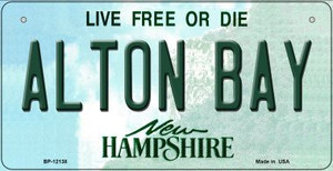 Alton Bay New Hampshire Wholesale Novelty Metal Bicycle Plate BP-12138