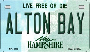 Alton Bay New Hampshire Wholesale Novelty Metal Motorcycle Plate MP-12138