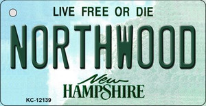 Northwood New Hampshire Wholesale Novelty Metal Key Chain KC-12139