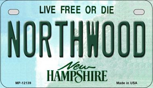 Northwood New Hampshire Wholesale Novelty Metal Motorcycle Plate MP-12139