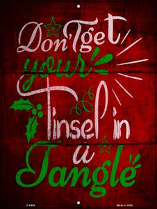 Tinsel In A Tangle Wholesale Novelty Metal Parking Sign P-2484