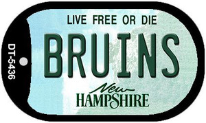 Bruins New Hampshire Wholesale Novelty Metal Dog Tag Necklace DT-5436