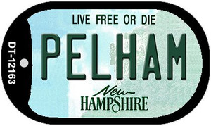 Pelham New Hampshire Wholesale Novelty Metal Dog Tag Necklace DT-12163