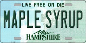 Maple Syrup New Hampshire Wholesale Novelty Metal License Plate LP-12165