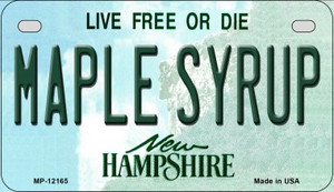 Maple Syrup New Hampshire Wholesale Novelty Metal Motorcycle Plate MP-12165