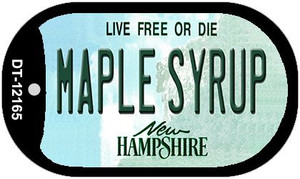 Maple Syrup New Hampshire Wholesale Novelty Metal Dog Tag Necklace DT-12165