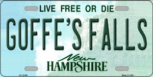 Goffes Falls New Hampshire Wholesale Novelty Metal License Plate LP-12166