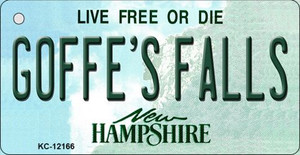 Goffes Falls New Hampshire Wholesale Novelty Metal Key Chain KC-12166